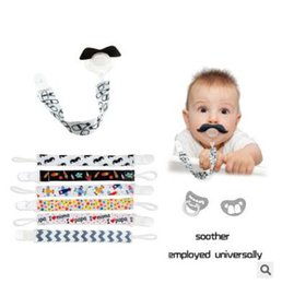 Barato Grampos Da Corrente Do Mamilo-Ins Double Side Pacifier Holders Baby Pacifier Clip Cadeia Titular de fita Soother Pacifier Clips Leash Strap Nipple Holder For Feed Infant