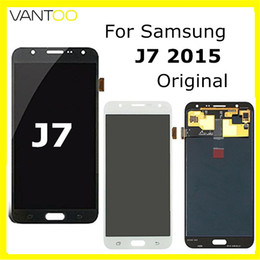 J7 Lcd Canada - New Original lcd for samsung galaxy J7 2015 lcd display screen touch digitizer free shipping by DHL
