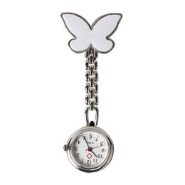 online shopping 10 Pieces Metal Nurse Watch Butterfly Charm Women Medical Military Brooch Red Cross Analog Quartz Doctor Watch