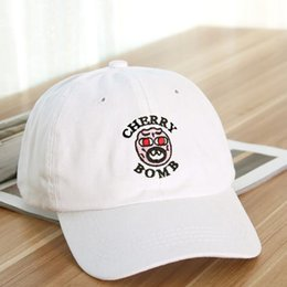 BomB hats online shopping - Exclusive New Cherry Bomb Snapbacks Embroidered Hat Baseball Cap Half Curved Street Golf Wang Snapback Caps Casquette Gorras Hats Mix Order