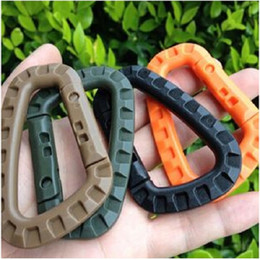 Wholesale High quality D Shape 200LB Mountaineering Buckle Snap Clip Plastic Steel Climbing Carabiner Hanging Keychain Hook