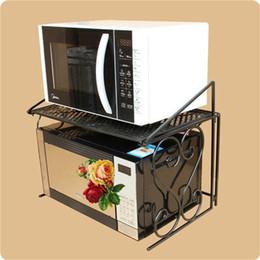 Estante de horno de microondas de hierro estante multipropósito con doble  capa de almacenamiento de cocina Organizador de baño envío gratis ZA4635 6c3d7fde1f6f