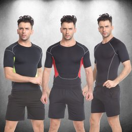 $enCountryForm.capitalKeyWord Australia - wholesale mens tight sport gym tracksuit short quickly dry running training jogging wear tight Compression exercise fitness workout