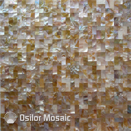 vintage mosaic tile NZ - Natural iridescent color Chinese freshwater shell seamless mother of pearl mosaic tile for home decoration wall tile