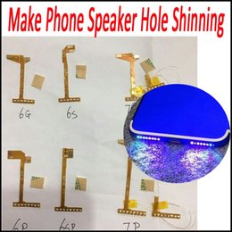 Iphone Speakers Dhl Australia - For iPhone 7 Plus Loud Speaker Light Mode Music Lamp Shinning Flex for iPhone 6 6P 6S 6SP 7 7P DHL Free Shipping
