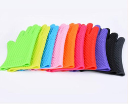 China Food grade thick Silicone Kitchen barbecue oven glove Cooking BBQ Grill Glove Oven Mitt Baking glove cheap bbq grill gloves suppliers
