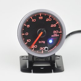pressure gauge meter 2019 - Wholesale- 60 mm turbo pressure gauge, pressure meter Colorful luminous boost gauge meter free shipping cheap pressure g