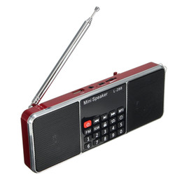 $enCountryForm.capitalKeyWord UK - Wholesale-High Quality Dual Loudspeaker Mini Portable LCD FM Radio Stereo Speaker MP3 Music Player Micro Support TF USB AUX Speakers Radio