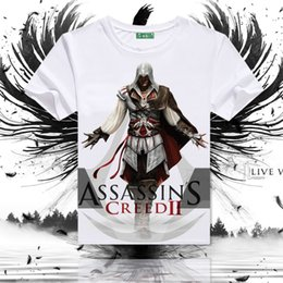 Assassin Clothes Canada - Assassins Creed T shirt New arrive short sleeve Assassin Desmond style tees Game clothing Men cotton Tshirt