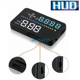 Car Heads Up Display NZ - DHL 5PCS New A3 Car HUD Head Up Display MPH KMH Speed Temp Alarm Speedometer Guage GPS