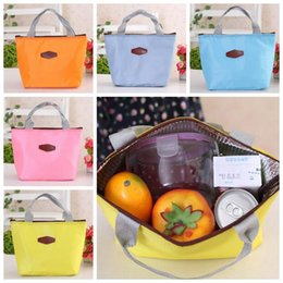Solid colorS tote bagS online shopping - 9 Colors cm Fashion Thermal Cooler Insulated Waterproof Lunch Carry Storage Picnic Food Waterproof Travel Tote Bag CCA6732