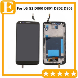 Display LCD Originale Con Cornice Per LG G2 D800 D802 D801 D802TA D803 VS980 LS980 Touch Screen Digitizer Assembly Spedizione Gratuita