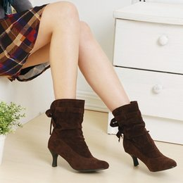 low price boots free shipping Australia - wholesaler free shipping factory price hot seller new style bowknot kitten heel women sexy fashion boot shoe 093