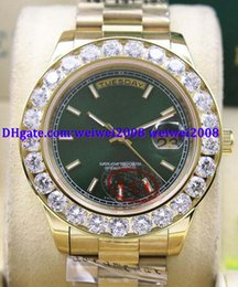 $enCountryForm.capitalKeyWord Australia - Luxury watch +gift box Green Dial 2 II Solid 18 kt Yellow Gold 41MM Bigger Diamond Watch Ceramic Bezel Mechanical Men Watches 18038