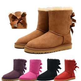 Chinese  Excellent quality Fashion Australia classic low winter boots real leather Bailey Bowknot women's bailey bow snow boots manufacturers