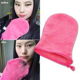 Wholesale Wholesale-make up Cleansing gloves make up remover gloves drops Face cleaning glove Convenient and efficient A5
