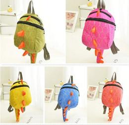 $enCountryForm.capitalKeyWord Canada - Baby Kids Dinosaur Backpack Bags Children Boys Girls Animal Cartoon Schoolbag Shoulder Bags 4Colors W21cm H26cm