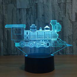 Lamp training online shopping - Train D Illusion LED Lamp Night Light RGB Lights DC V USB Powered AA Battery Dropshipping Retail Box