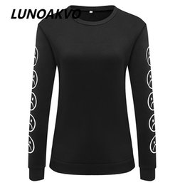 Discount neck face clothing - Wholesale- Tumblr Hoodies Winter Tracksuit Clothing Sad Faces Emoticon Sleeves Printed Keyboard Sweatshirt