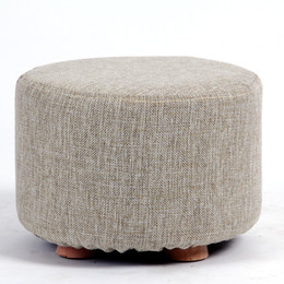 Cotton Shoes Stool Living Room Bench Chair Round Low Childrens Adult Household Bedroom Furniture Free Shipping