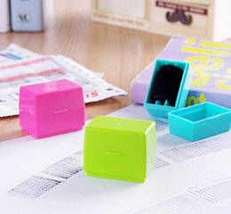 office rubber stamps 2019 - Hot 300pcs Confidential Seal Security Hide ID Garbled Self-Inking Rubber Stamps Protect Identity Theft Stick Confidentia