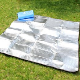 Wholesale  Outdoor Cushions Carpet Moisture Proof Pad Picnic Rug 3   4  Floor Sleeping Pad Waterproof Thickening Mat Portable Camping 130815