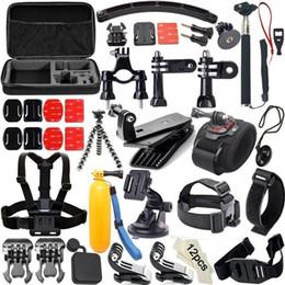 Wholesale 50-in-1 Sport Camera Accessories Headband Chest strap Handheld Selfie Stick Buoyancy Stick mini Tripod For Hero 6 5 SJcam xiaoyi Free Shippi