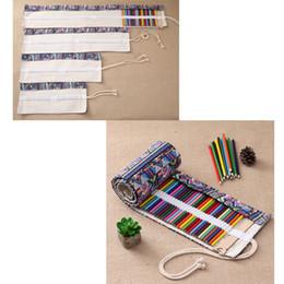 $enCountryForm.capitalKeyWord Canada - 36 48 72 108 Holes Pencil Case Bag School Canvas Roll Up Pouch Makeup Comestic Brush Pen Storage Pecncil Pouch School Supplies