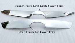 steel mazda UK - Stainless Steel Chrom Front Center Grill Grille Cover Trim Rear Trunk Lid Cover Trim External Decoration For MAZDA CX-5 CX5 2PC