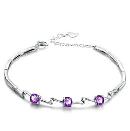 $enCountryForm.capitalKeyWord NZ - high quality beautiful new handmade girls bracelet 925 sterling silver purple zircon jewelry buy from China