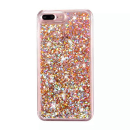 China Bling Case Colorful Soft TPU Glitter Crystal Case For iPhone 7 6S Plus SE Samsung S7 S6 Edge Running Quicksand Liquid Dynamic Case suppliers