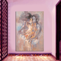$enCountryForm.capitalKeyWord Australia - New Modern Handmade Figure Portrait Oil Painting on Canvas Abstract Love no frame home decoration christmas gifts
