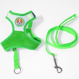 harness vest for dogs UK - Cute Pattern Puppy Cat Pet Small Dog Nylon Harness Vest & Leash Set For Chihuhua S M L