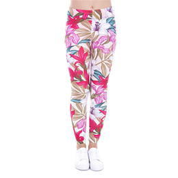 China Girl Leggings Paradise Flower 3D Graphic Print Women Floral Skinny Stretchy Pants Runner Casual Jeggings Yoga Pencil Fit Trousers (J43479) suppliers