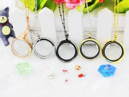 free christmas photo frames UK - Hot selling 30mm plain circle DIY floating locket photo frame magnetic round meomery necklace pendant 5PCS lot -(free chain included)