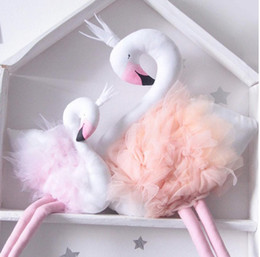 online shopping Handmade Pink Flamingo Decorations Supplies Room Decorations Cute Stuffed Animal Toys Baby Swan Pillow Cushion Kids Dolls Wedding Toys Gifts