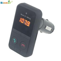 1gb car mp3 player 2019 - Wholesale- Binmer Wireless Bluetooth FM Transmitter Modulator Car Kit MP3 Player SD USB LCD St15 cheap 1gb car mp3 playe