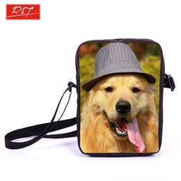 Dog Zipper Australia - Wholesale-Brand Animal Dog Labrador Rottweiler Prints Bag Women Mini Messenger Bags Kids School Bags Girls Bookbag Travel Bag Best Gift