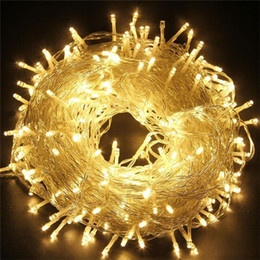 holiday lights 50m 400 led 100m 600led fairy strings light christmas decortion light outdoor waterproof home party wedding lighting - Outdoor Christmas Lights For Sale