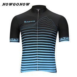 Boys Bikes Canada - can custom men 2017 cycling jersey Cartoon blue black clothing bike wear NOWGONOW racing road mountain cool maillot outdoor boy sport wear