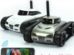Cameras For Spying NZ - DHL Happycow 777-270 I-SPY Mini RC Tank 0.3M HD Camera Video Car Wifi Wireless Realtime iOS Android Remote Control iPhone Toys for Kids