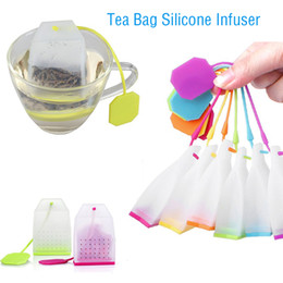 Discount eco friendly bags free - New Tea Bag Silicone Infuser Tea Leaf Strainer Loose Herbal Spice Filter Diffuser Coffee Tea Tools Party Gift Free Shipp