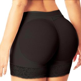 Slip En Dentelle Pas Cher-2 pc / lot Femmes culottes rembourrées Fake Butt Pads Seamless Booty Enhancer Hip Lift Underwear Ladies Sexy Woman Briefs Underpants