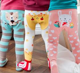 $enCountryForm.capitalKeyWord NZ - Animal Baby Tights Autumn Cartoon Stripe Boys Girls Leggings fox Penguin Deer Christmas Toddler Tight with Socks Brand Clothes C1652