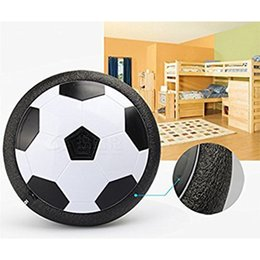 football toys wholesale Australia - Creative LED Light-up Suspension Football Indoor Sport Levitate Toys Air Power Electric Soccer Ball Toy For Parent-child Kids Boy