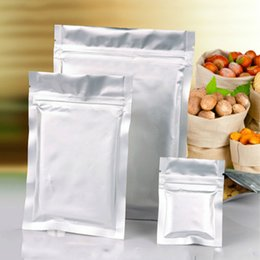 Discount ice packaging bags 11x16cm Aluminum Foil Laminating Packaging Zip Lock Food Mylar Bags Medical Ice Snacks Coffee Smell Proof Package Heat S