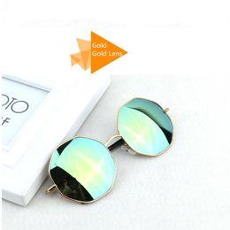 46330938d6 round small frames wholesale 2019 - Wholesale-2016 Fashion Designer Mirror  Frame Round Hexagon Sunglasses