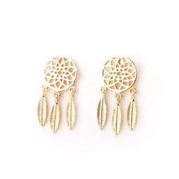 9c9639f27 925 Sterling Silver Hypoallergenic Bohemian Feather Dream Catcher Net Shape  Drop Stud Earrings For Women Free Shipping