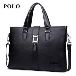 $enCountryForm.capitalKeyWord NZ - Wholesale- New POLO men's Briefcases business leather handbag fashion messenger bag brand shoulder bag crossbody bag Free Shipping