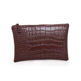 Chinese  Wholesale-Noble elegant women Evening bag Fashion ladies envelope small handbags High quality pu Alligator grain Crossbody Bags Q-297 manufacturers